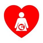 Icono corazon simbolo embarazo